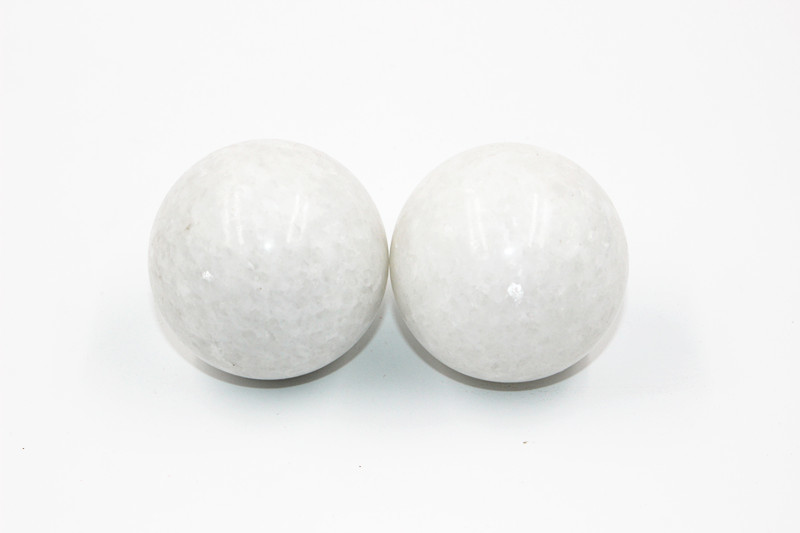 2pcs/lot Natural Jade Stone Hand Ball Massage Rolling Exercise Meditation Stress Relief Fitness Health Hand Whealing Balls 2 sets ball the plum flower jade handball furnishing articles hand bead natural jade health care gifts