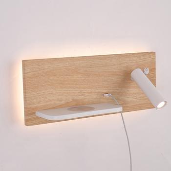 ZEROUNO nowoczesna lampa ścienna hotelowa oprawa ścienna sypialnia zagłówek lampka do czytania nocny led bezprzewodowa ładowarka USB podświetlane światła tanie i dobre opinie Dół Foyer Bed room Badania Jadalnia living room ROHS recessed 90-260 v Pokrętło przełącznika Dotykowy włącznik wyłącznik
