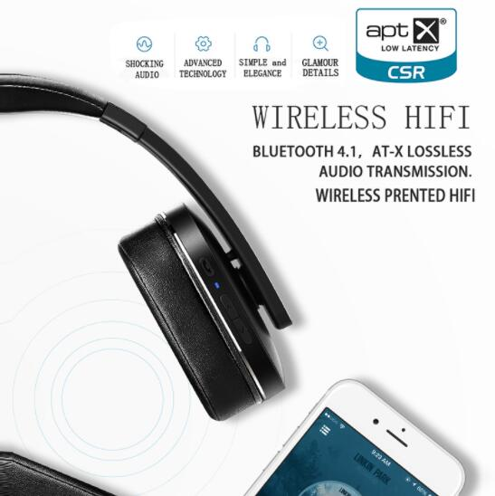 Picun F9 Bluetooth Wireless Headset Bluetooth Headset Leather Stand Metal Case Headphone Microphone Connect Mobile Phone in Bluetooth Earphones Headphones from Consumer Electronics