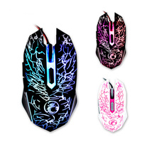 4stall Dpi Adjustment Colorful Led Usb 6d Wired Optical Computer Gaming Mouse For Ratones Pc Gamer