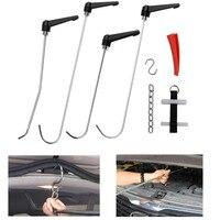 FURUIX PDR Tools Car Dent & Hail Damage Repair Tool Kit 4 pc PDR Puller Rod Hooks Repair Paintless Car Body Dent Hand Tools