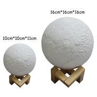 3D Print Moon Lamp USB LED Night Light Moonlight Gift Touch Sensor Color Changing Night Lamp