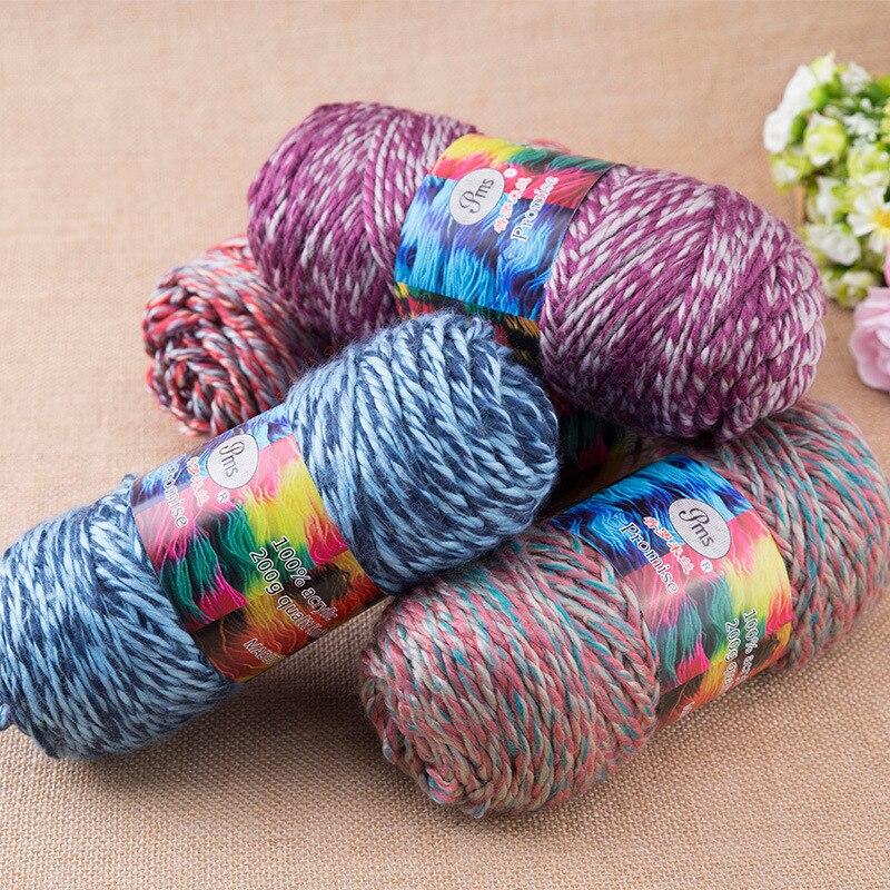 800 G Lot 100 Acrylic Thick Ab 2 Ply Scarf Yarn Crochet Hand