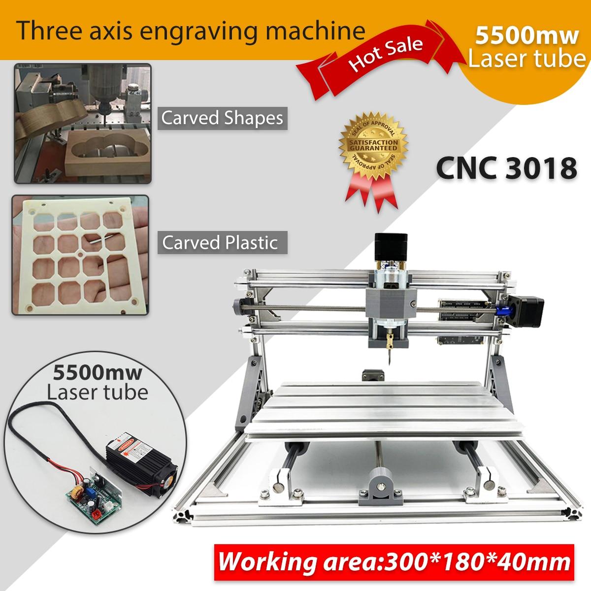 CNC 3018 5500 mw/2500 mw mini Laser macchina per incidere di cnc macchina di fresatura cnc kit Router di Legno di cnc