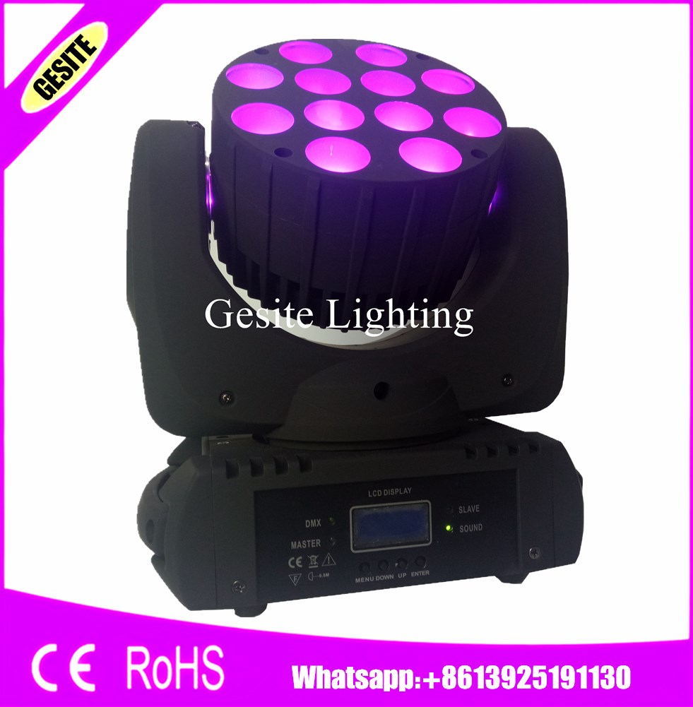 2016 Hot 6pcs/lot LED Beam Moving Head stage Light 12x12W RGBW Mobil head light Quad LEDs With Excellent Pragrams 11/15 Channels|quad led|moving head stage light|stage light - title=
