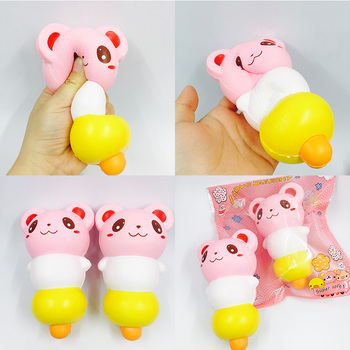 Squishy wholesale 20pcs kawaii squishy cute panda squishy with package jumbo slow rising strap anti-stress toys soft squishy фото