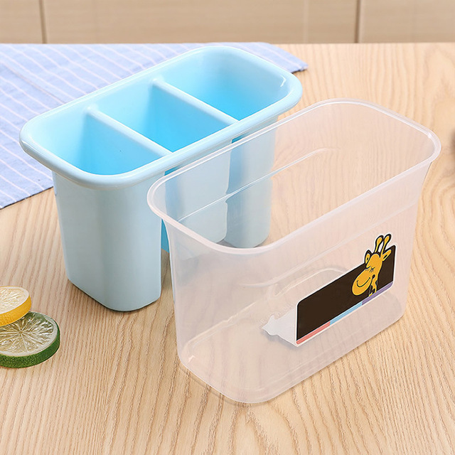 Kitchen Drain Baskets Chopstick Forks Spoons Plastic Storage Baskets Organizer Kitchen Storage Organization Holder Color Random