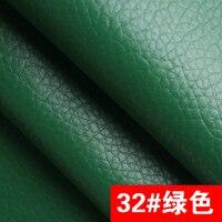 32 # зеленый высокое качество гигантский галечный искусственная кожа ткань как Leechee для DIY Швейные диван стол обувь сумки кровать материал (138*...