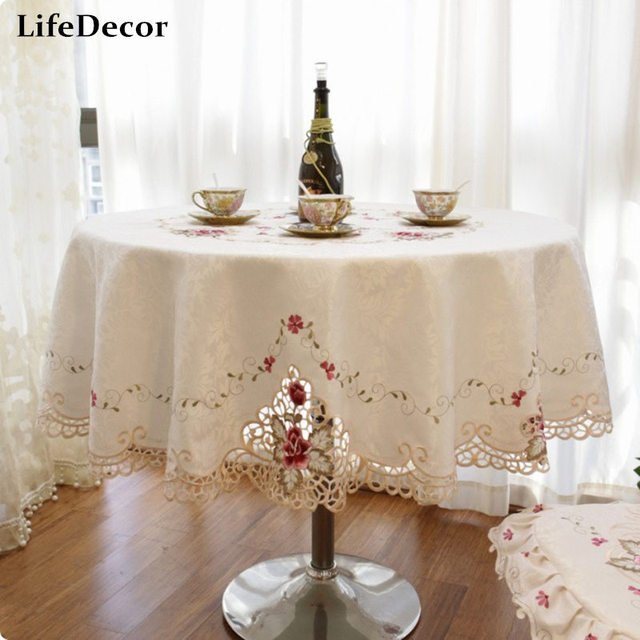 Luxury Fashion Round Table Cloth Fashion Cloth Dining Table Cloth Chair  Covers Round Tablecloth Round Table