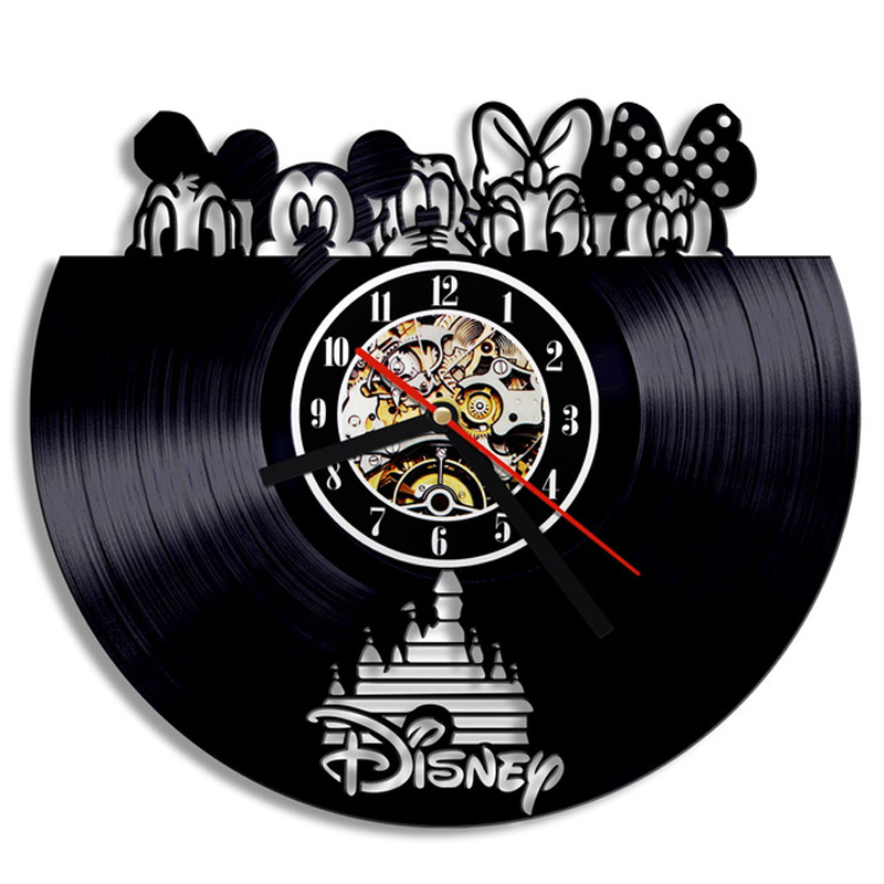 Vinyl Record 3D Wall Clock Modern Design Decorative Kids Room Cartoon Hanging Clocks Wall Watch Art Home Decor For Children Gift