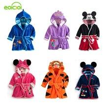 EOICIOI enfants peignoirs pour les filles bébé garçon robe de flanelle chemise de nuit enfants hiver vêtements de nuit robe à capuche de Bande Dessinée Minnie tigre