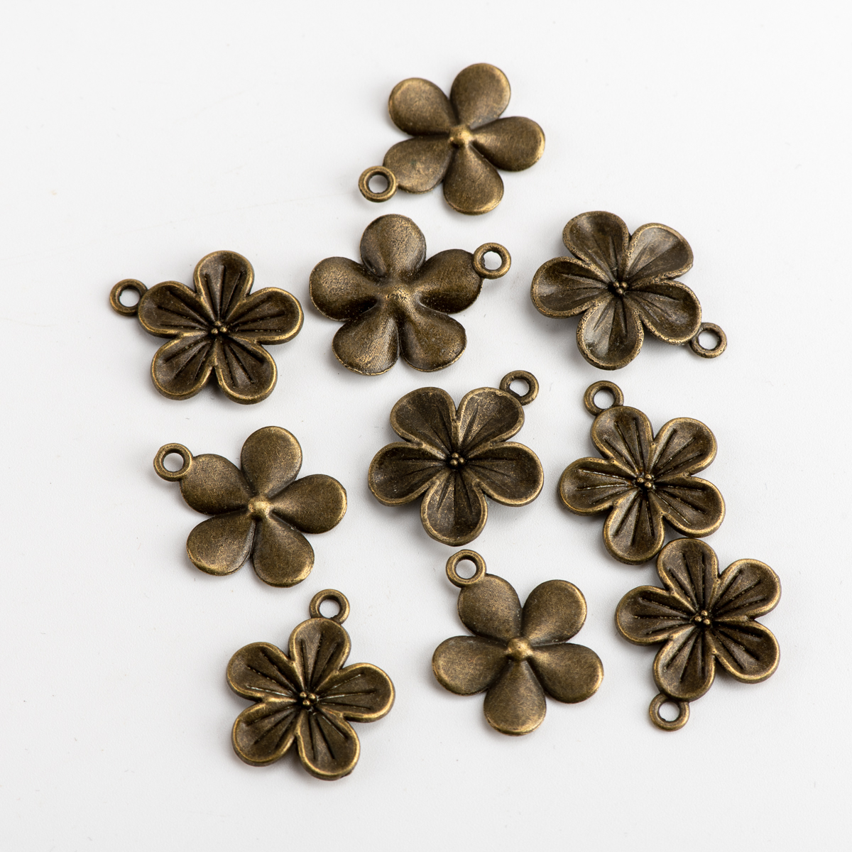 Flower DIY Alloy Pendant Jewelry Making Charms Jewelry Findings & Components For Jewelry Making #JZ211