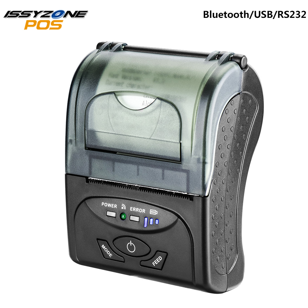 IssyzonePOS Bluetooth Printer 58mm Portable Thermal Receipt Barcode Web PDF Printing For logistics warehouse retail