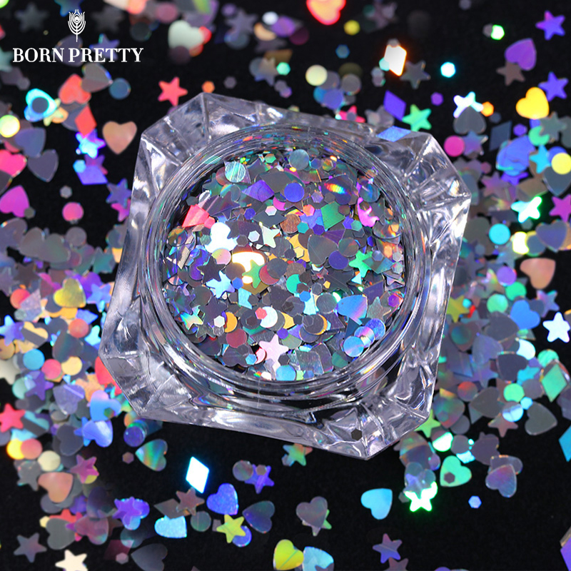 Heart Star Holographic Nail Sequins 1.5g  Rhombus Round Colorful Flakies Paillette for Manicure Nail Art Decoration джинсы мужские g star raw 604046 gs g star arc