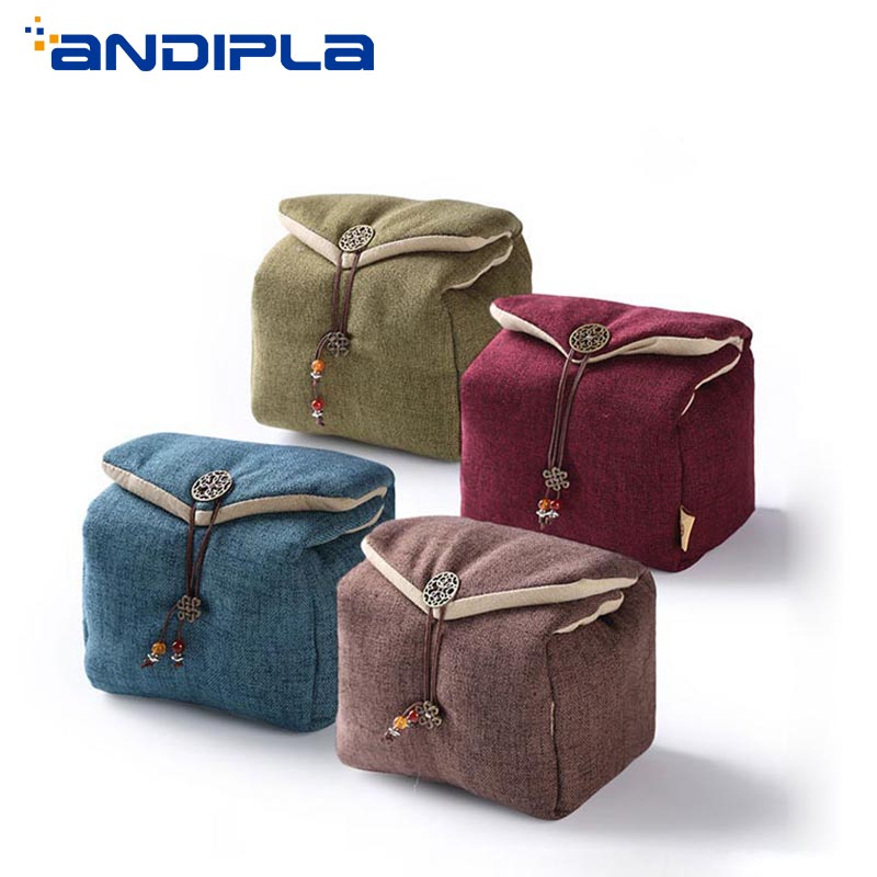 Portable Teaware Storage Bag Outdoor Travel Tea set Teapot Teacup Cotton Tea Cozies Food Toys Jewelry Nuts Package Picnic Bags
