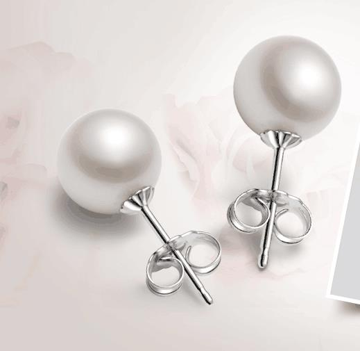 PAIR OF 9-10MM NATURAL SOUTH SEA GENUINE WHITE ROUND PEARL EARRING 14k pair of huge 12mm natural south sea genuine white pearl stud earring 14k