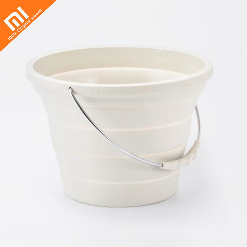 The latest xiaomi mijia collapsible silicone bucket outdoor camping fishing wagon barrel 7 2L multi function