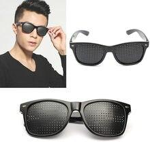 Vision Care Pin buraco óculos de Sol Das Mulheres dos homens Anti-miopia Óculos Pinhole Eye Exercício Visão Melhorar a Cura Natural Anti-fadiga(China (Mainland))