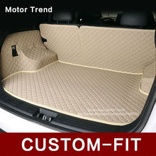 Custom fit car trunk mat for Nissan Rouge X-trail Murano Sentra Sylphy  versa  Tiida 3D car-styling tray carpet cargo liner