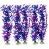 10PCS Plastic Aquarium Plants Decorative Artificial Plants Fish Plant Fake Accessories Aquarium Ornament Decor Purple
