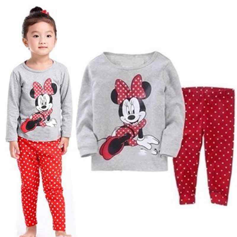 Nuevos niños niñas trajes de ropa para niños 2 uds pijamas de manga larga de dibujos animados Envío Directo LP013