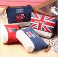2016 женщинам-кошельки 2016 лондонский автобус и флаг вышитые прием пакет холст мужская портмоне руки унисекс сумки carteras mujer
