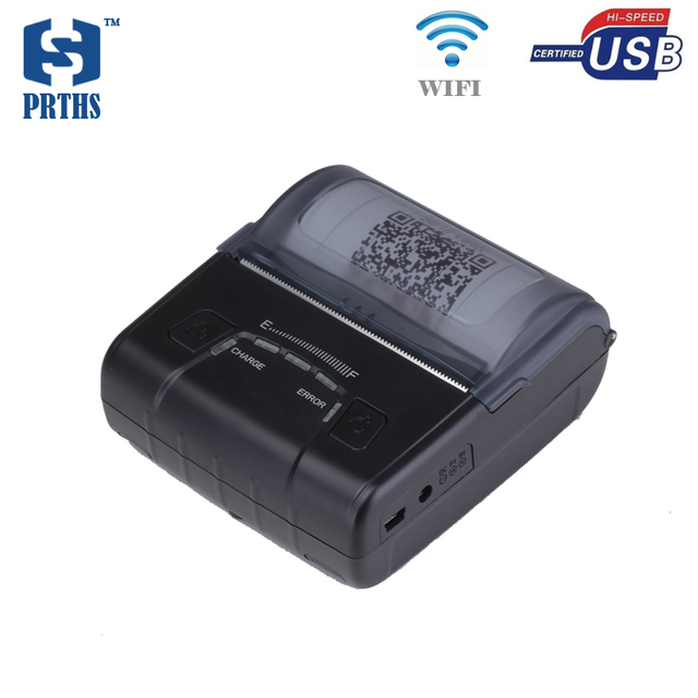 Wifi 80mm portable printer mini thermal receipt printer with battery capacity remind and SDK support multi-language mobile POS