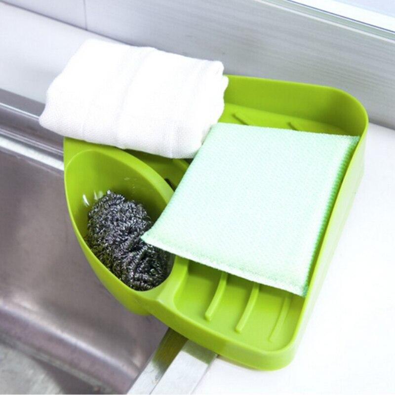 Kitchen sink corner storage rack sponge holder wall mounted dishes kitchen sink corner storage rack sponge holder wall mounted dishes drip rack bathroom soap dish wall storage rack 85762 in storage holders racks from workwithnaturefo