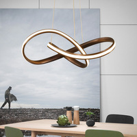 Черный или белый современные светодиодные висит люстра для столовой Кухня зал Бар подвесной светильник подвесной люстры AC85 265V