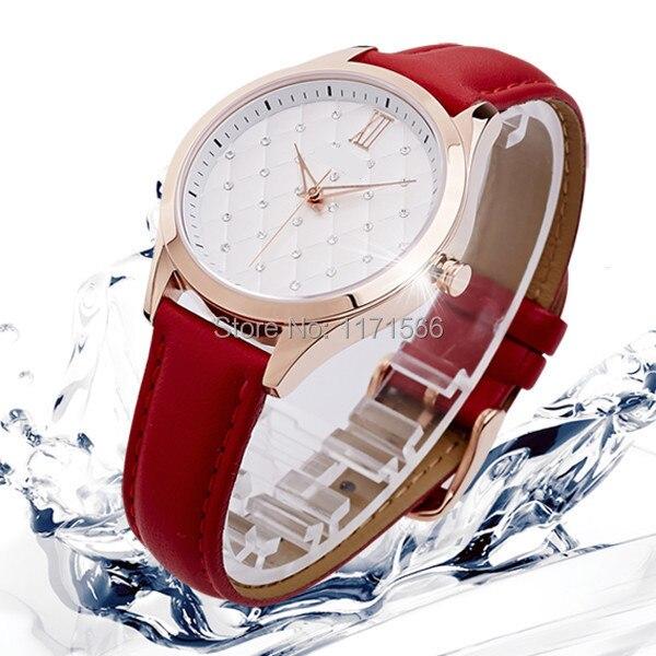 3bc1c6cf353 Relogios femininos famosa marca de quartzo relógios mulheres luxo pulseira  de couro de cristal dress watch