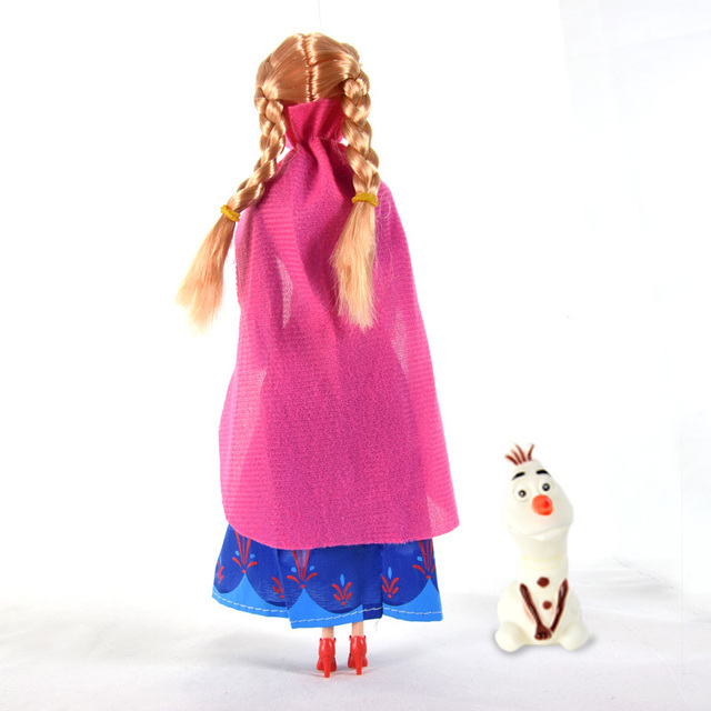 2pcs/set Fashion Princess Elsa Anna Doll Baby Juguetes Snow Queen Children Kids Toys Christmas Gifts For Kids Sharon Dolls DS005