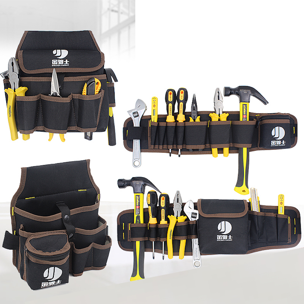 Quick-pick Work Waist Bag Tool Storage Bag Electrician Carpenter Contractor Technicians Tool Bag Pouch Pocket