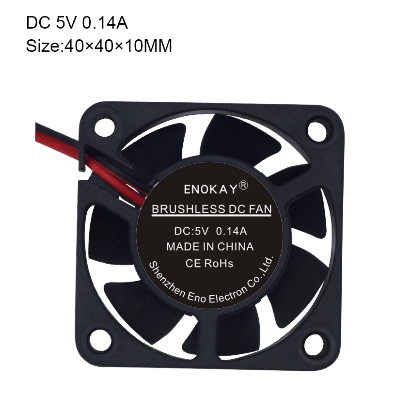 Special Offer <font><b>Fan</b></font> Controller Computer Water Cooler Enokay 5pcs <font><b>40mm</b></font> 40 X 10mm 4010s For <font><b>5v</b></font> DC <font><b>Fan</b></font> 2pin Cooling Radiator image