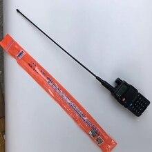 10Pcs Dual Band NA771 Handheld Twee Manier Radio Antenne 145/435M RH771 Oranje Kleur Flexibele Rubberen Antenne