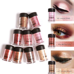 Focallure Clearance 12 Colors Glitter Eye Shadow Powder Diamond Shimmer Eye Makeup Pigment Lip Highlighter Powder with Sequin