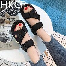 HKCP Sandal lady 2019 summer new Korean version of the casual student sandal versatile comfortable beach shoes C094