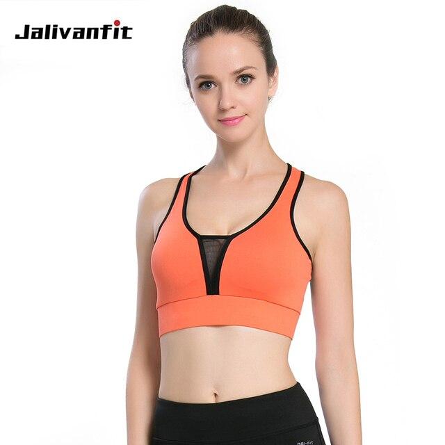 Aliexpress.com   Buy Women Fitness Yoga Bra Athletic Underwear Deep V Mesh  design Sexy Sport bra Push Up Running Gym Vest beautiful shape from  Reliable yoga ... 58c2ec037