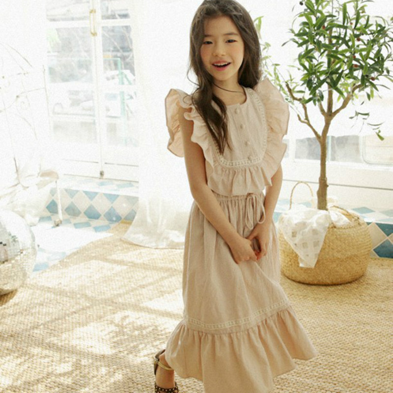 f5ba3040addf Girls Cotton Dresses New Summer Brand Kids Princess Dress Cute ...