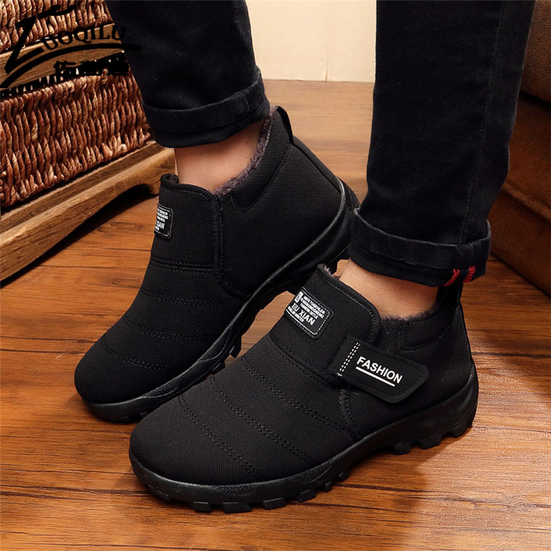 Brand Men Winter Boots Fur Snow Boots Mens Winter Shoes Ankle Boots For Mens Winter Footwear