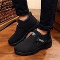 Homens marca de Inverno Botas De Pele Botas de Neve Dos Homens Sapatos de Inverno Ankle Boots Para Homens Calçados de Inverno Plush Fur Botas Hombre