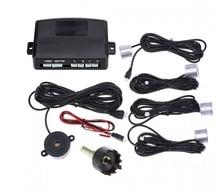 Coche Universal LED Sensor de Aparcamiento Con 4 Sensores 12 V Coches Sensor De Estacionamento Asistencia Inversa Monitor de Reserva Del Radar Del Sistema