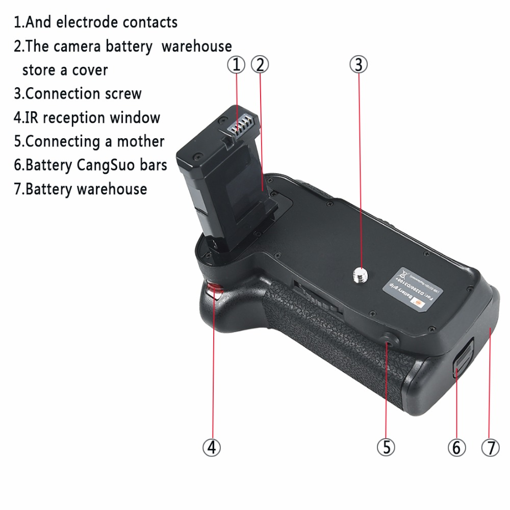 Dste Multi Power Vertical Battery Grip Remote Control For Nikon D3100 Connector Cover From D3200 D5300 Dslr Camera In Grips Consumer Electronics On