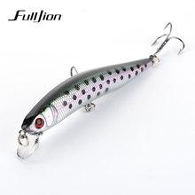Fulljion 9.5cm 8.7g Minnow Fishing Lures Wobblers Quality Professional Crankbaits 6# Hook 3D Eyes Artificial Hard Baits Pesca