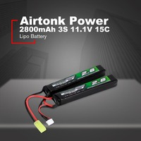 Airtonk Power 11.1V 2800mAh 15C 3S Lipo Battery Mini Tamiya Plug Rechargeable Triple Cell for Model Gun Toy Boy Gift