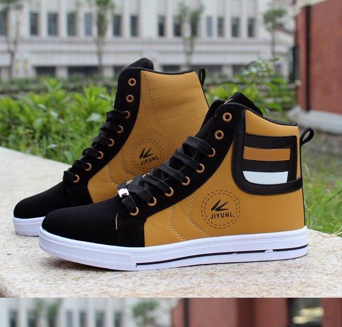 HTB1mvc2XfjsK1Rjy1Xaq6zispXaV - HUANQIU Brand Men Shoes 2018 Spring Fashion Boots Shoes Man High Top Shoes Men Lace Up Casual Shoe Chaussure Plus size 45 ZLL434
