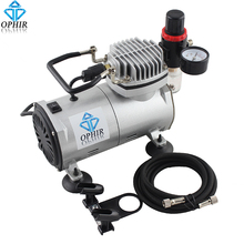 OPHIR 110V US Plug Professional Portable Mini Air Compressor with Tank for Hobby Cake Decoration Body Paint Makeup # AC089(110V)