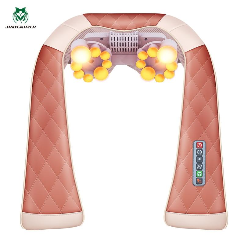 JinKaiRui Multi-function 3D Kneading Massage Shawl With Heat Electrical Shiatsu Back Neck Shoulder Massager Foldable MassagemJinKaiRui Multi-function 3D Kneading Massage Shawl With Heat Electrical Shiatsu Back Neck Shoulder Massager Foldable Massagem