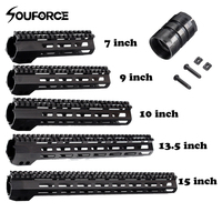 7/9/10/13.5/15 Inches Ultralight Slim Free Float Handguard Rail Mount+Nuts Metal Gun Accessories for Hunting