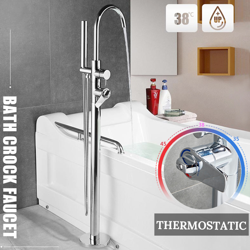 Janitorial & Sanitation Supplies Contemporary Mounted on Thermostatic Platform with Ceramic Valve One knob One Hole for Chrome Sink Faucet