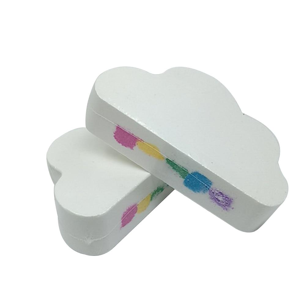 Rainbow Cloud Salt Essential Oil Bathing Ball Bubble Exfoliating Moisturizing Skin Care Props Natural Bubble Bath Bombs Ball New